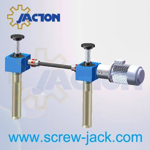 spindle lifting gears lift table system