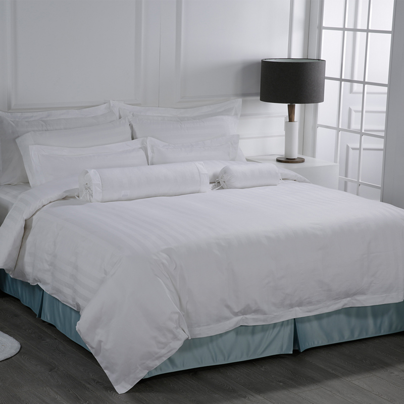 Eliya Wholesale Luxury Fitted Textile Linen White 100% Cotton 5 Star Hotel Bed Sheet Set