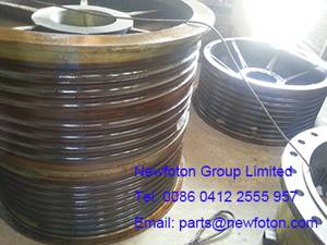 Rope drum of electric shovel