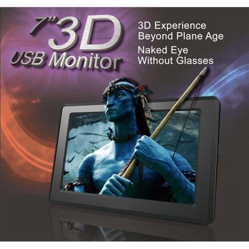 7 inch 3D USB Powered LCD Monitor, USB input