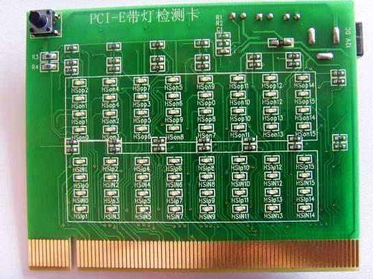 Computer PCI-E Test Card with LED
