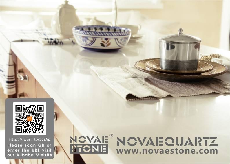 NV701 White Chocolate Quartz Stone, Quartz countertops,white quartz