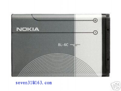 mobile phone battery,cell phone,nokia bl-6c cell