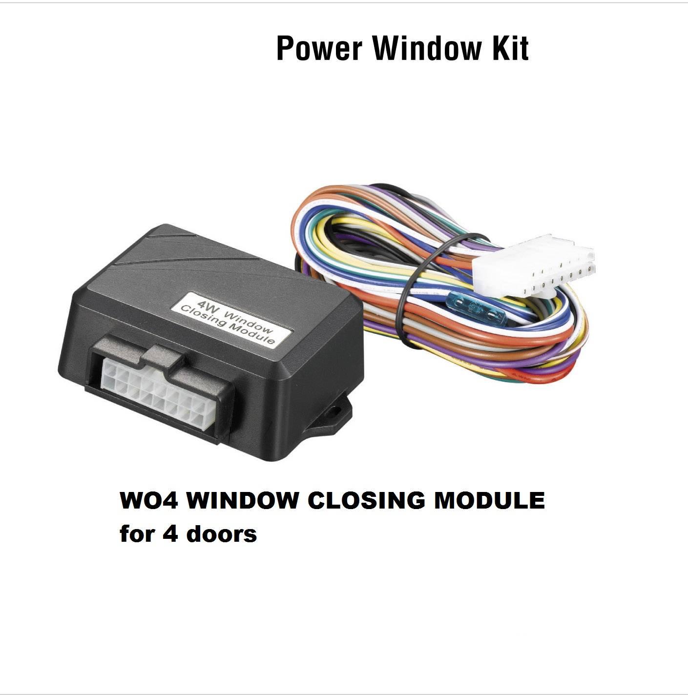 Window closing module for 4 doors