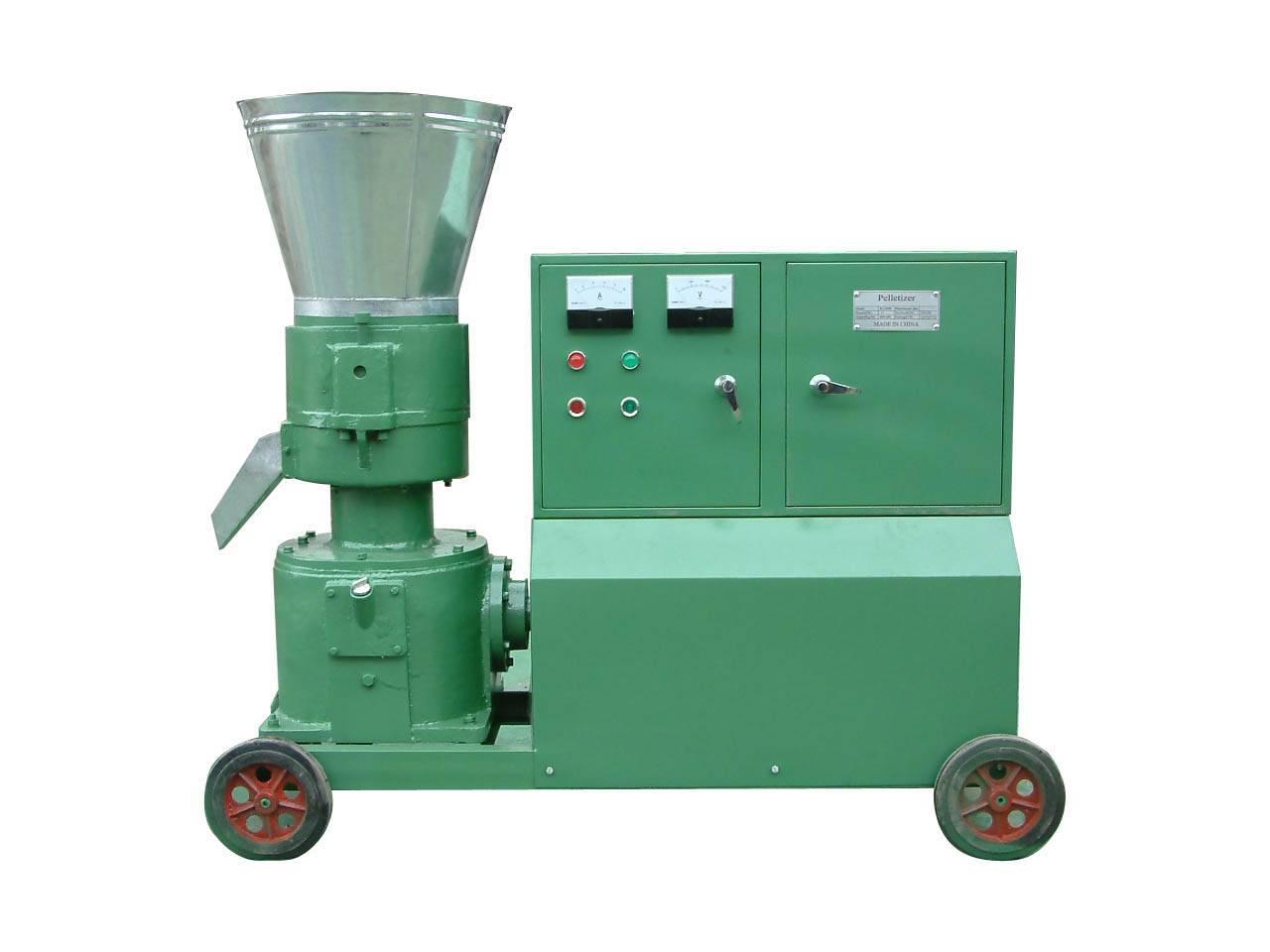 Flat die feed pelletizer/pellet mill