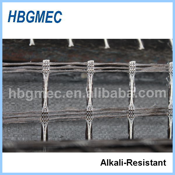 high strength basalt fiber mesh for road construction