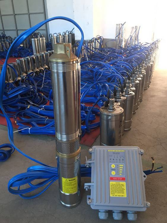 dc solar submersible pump price made in China solar water pump system