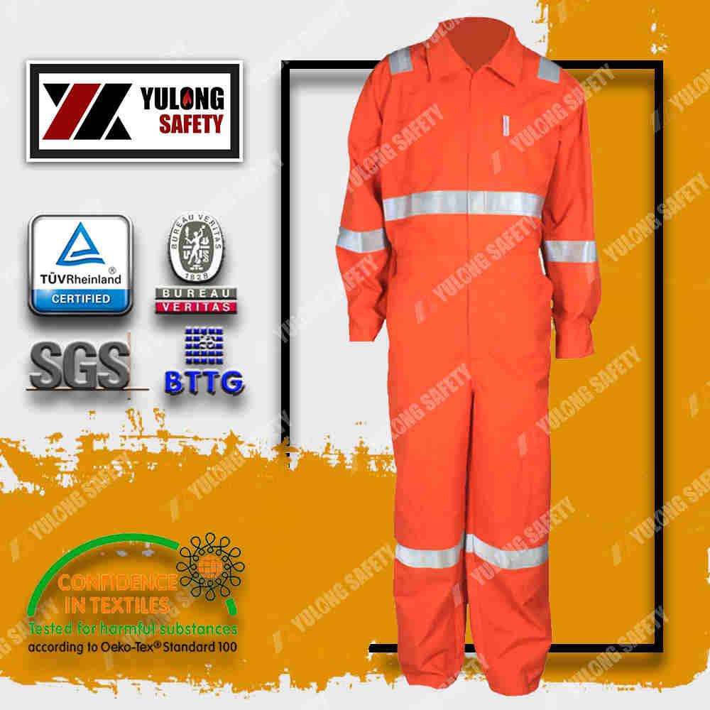 fluorescent orange high visibility clothing