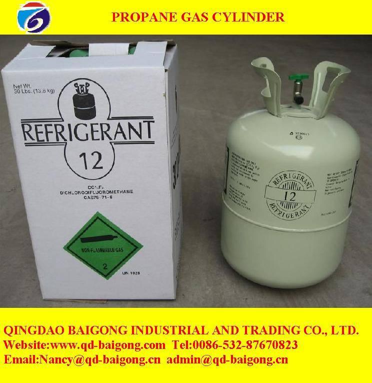 propane gas cylinder refrigerant gas R134a