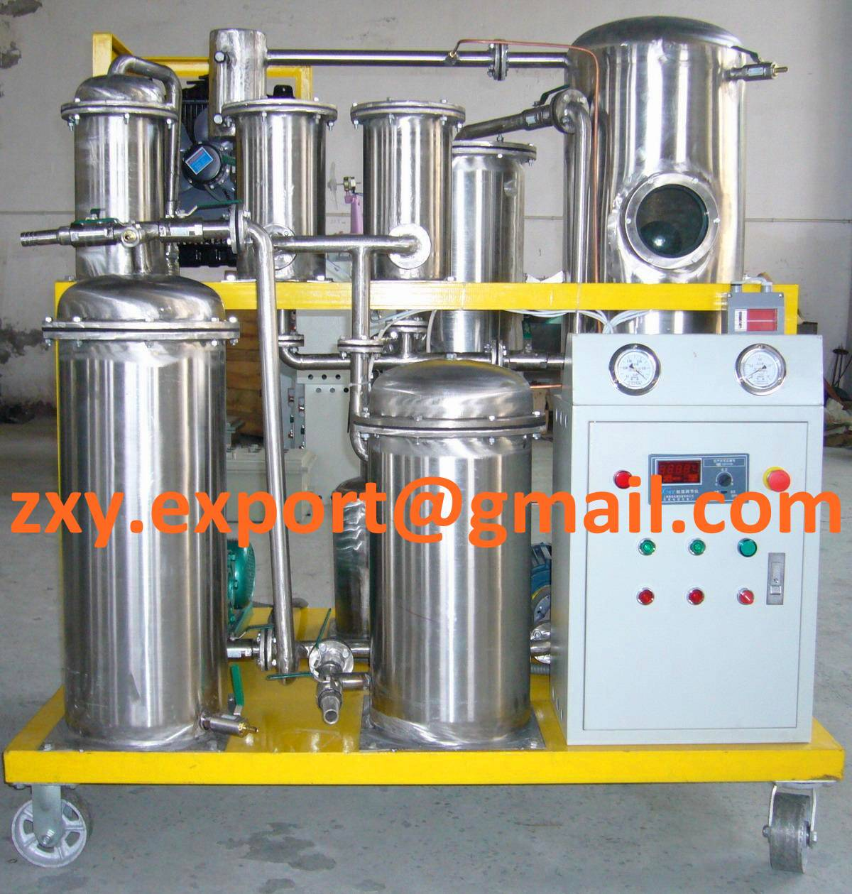 Stainless Steel Lube Oil Purification Machine, Hydraulic Oil Filtration Plant