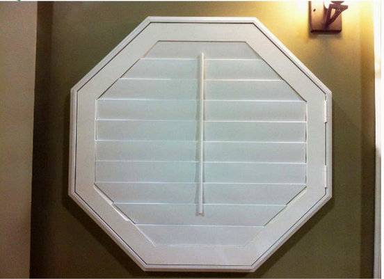 White Paint Stain Color Basswood Paulownia Octagon Shutter