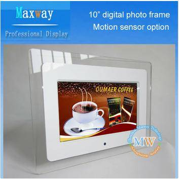 Acrylic frame 10 inch lcd digital photo frame
