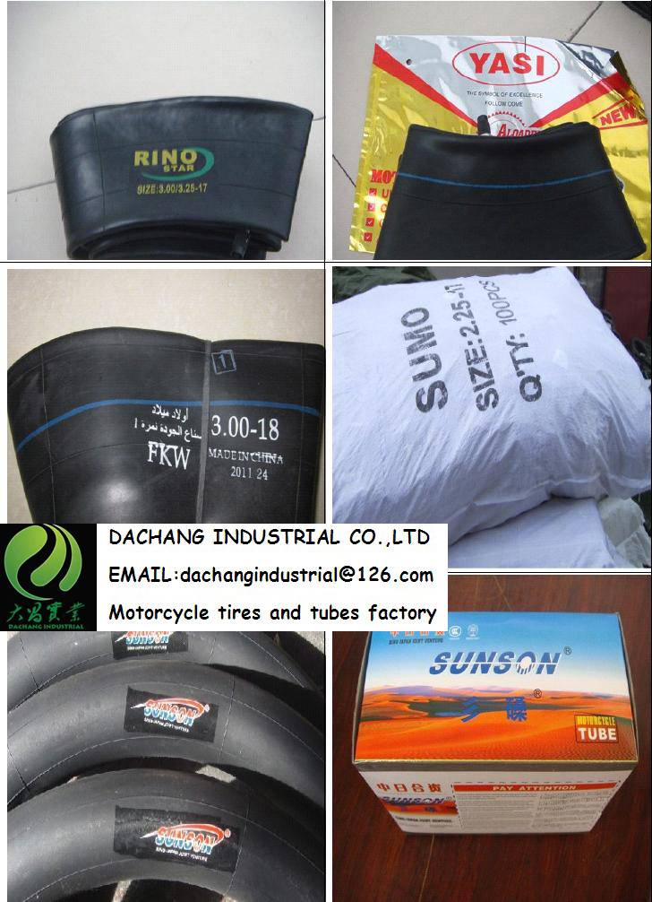 High quality Motorcycle inner tube ALL SIZE natural rubber and butyl