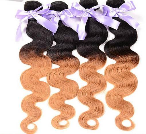Two tone Brazilian human hair extensions