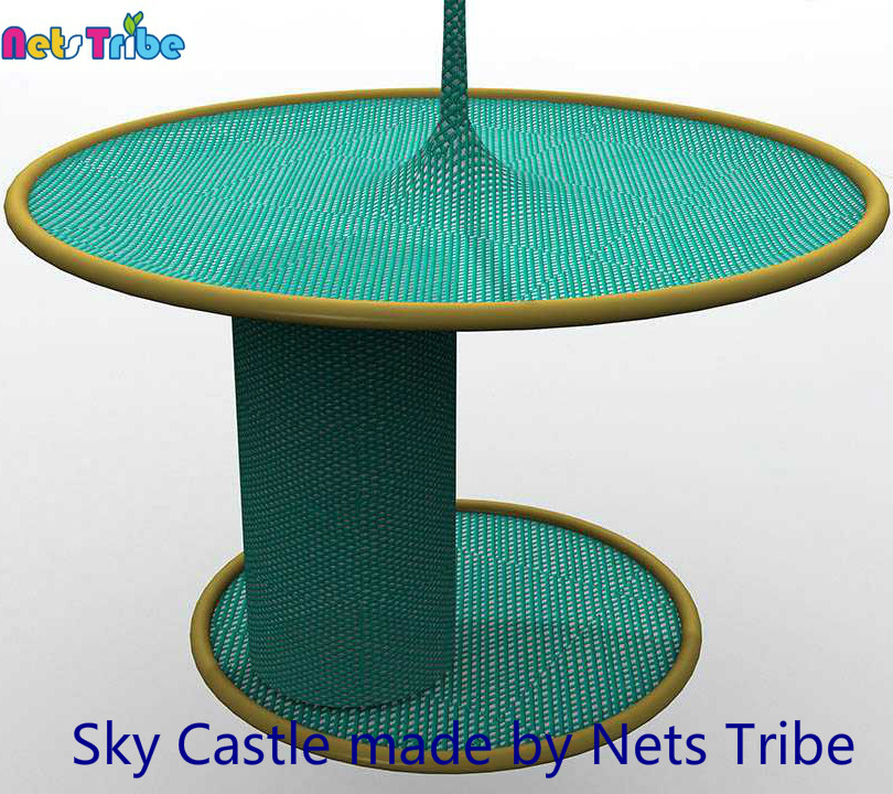 Famous crocheted polyester fibre sky castle indoor playground