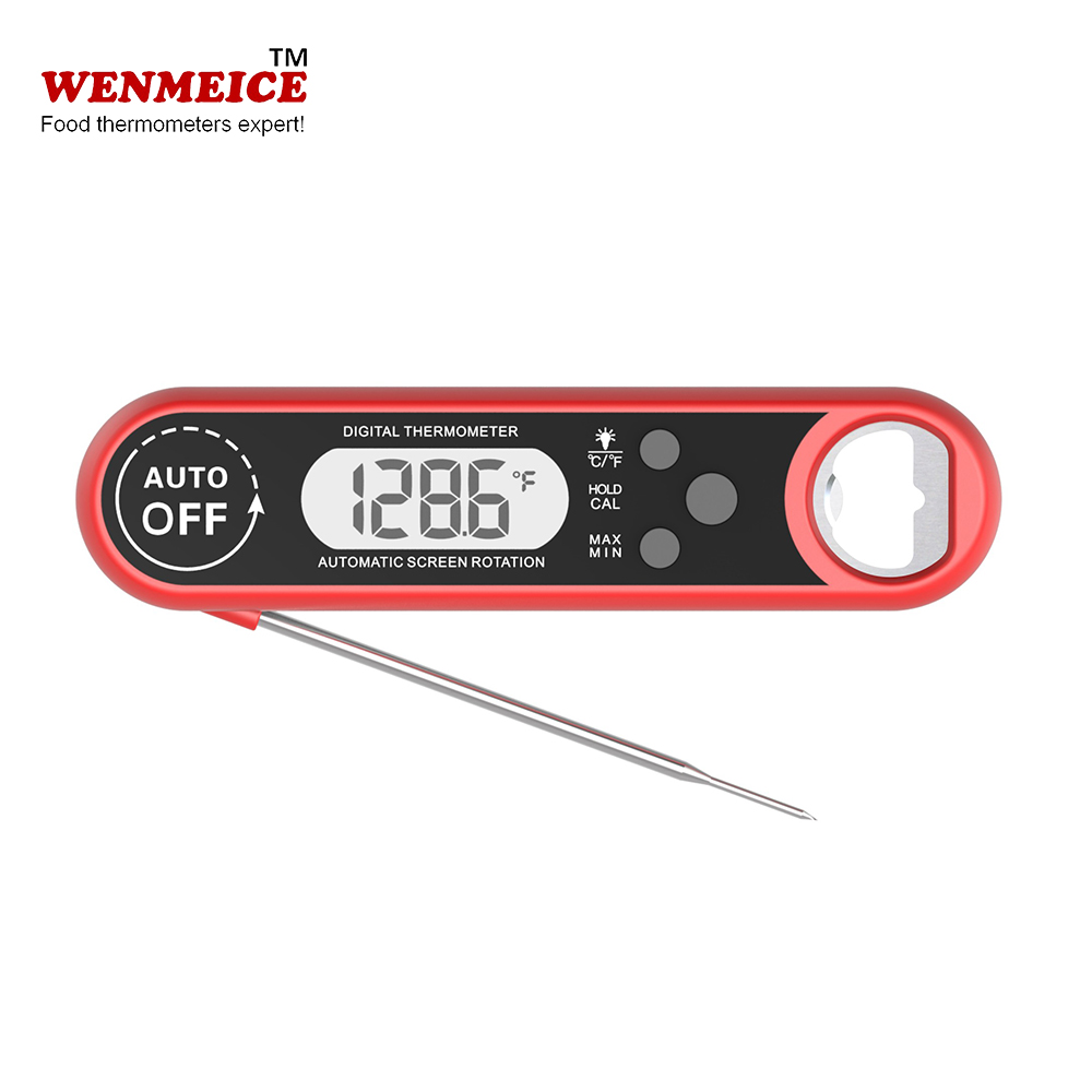 Customized Logo Digital Thermometer Black Red