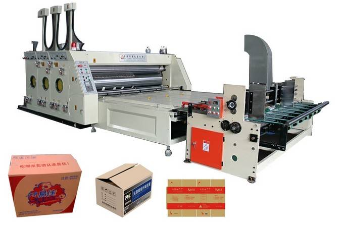 Corrugated paperboard and carton box packing machine