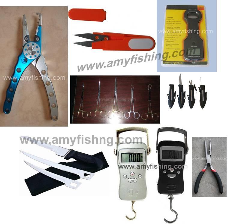 fishing plier, fishing knives, hanging scale, stringer, fishing grip,grasper,