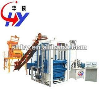 Concrete block making machine movable