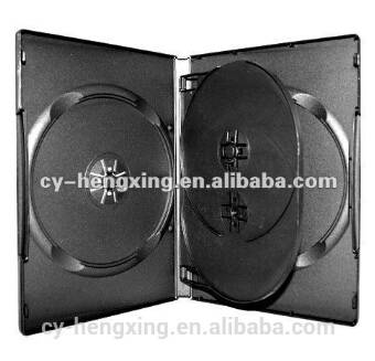 pp black dvd case for 4 discs
