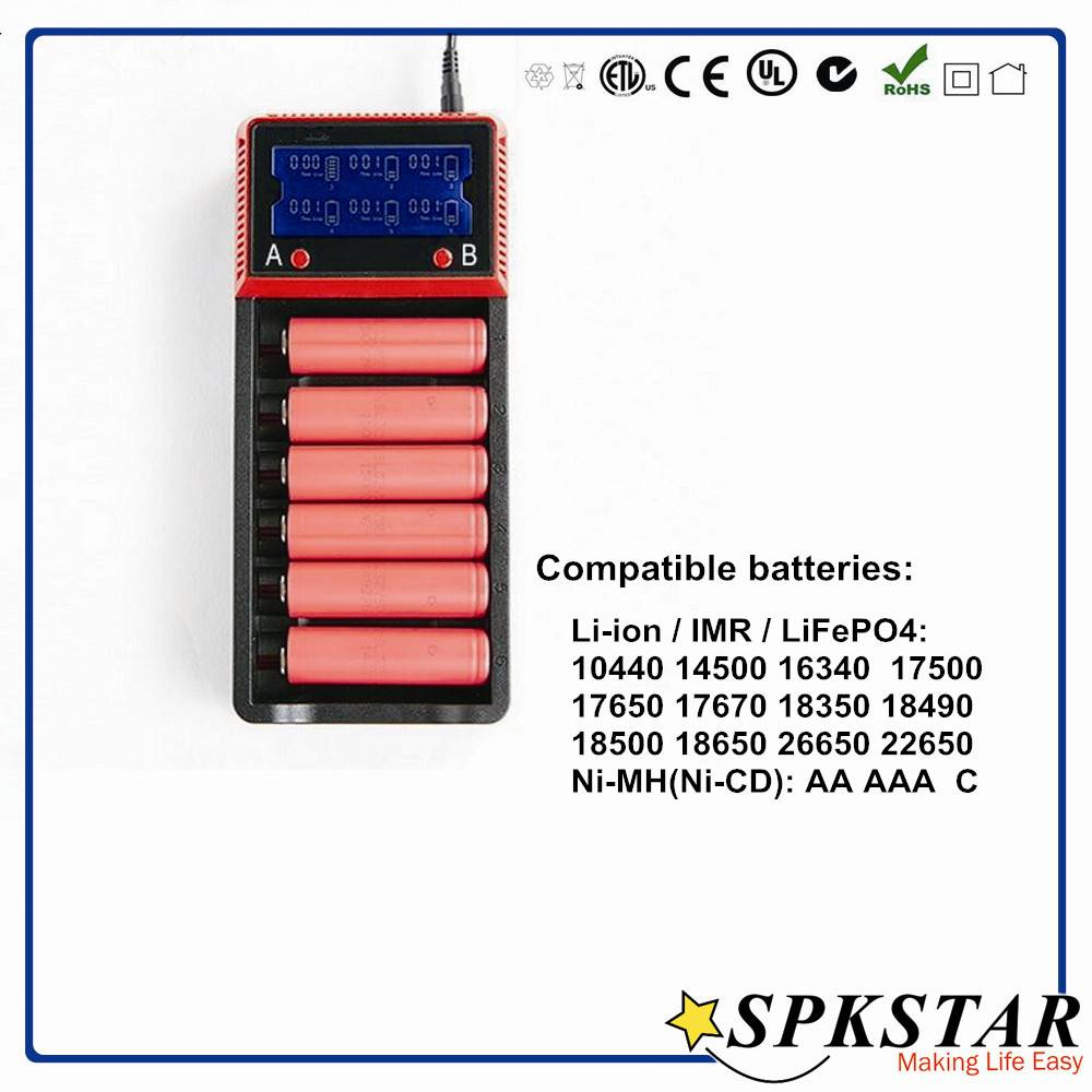 2016 new product LCD display li-ion ,18650 rechargeable battery charger