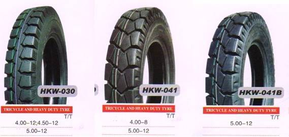 SELL HIGH QUALITY, HEAVY DUTY TRICYCLE TIRES 5.00-12, 4.50-12, 4.00-12