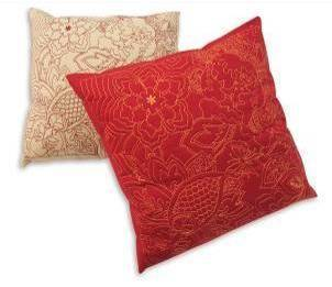 Serene Antique-Printed pillow