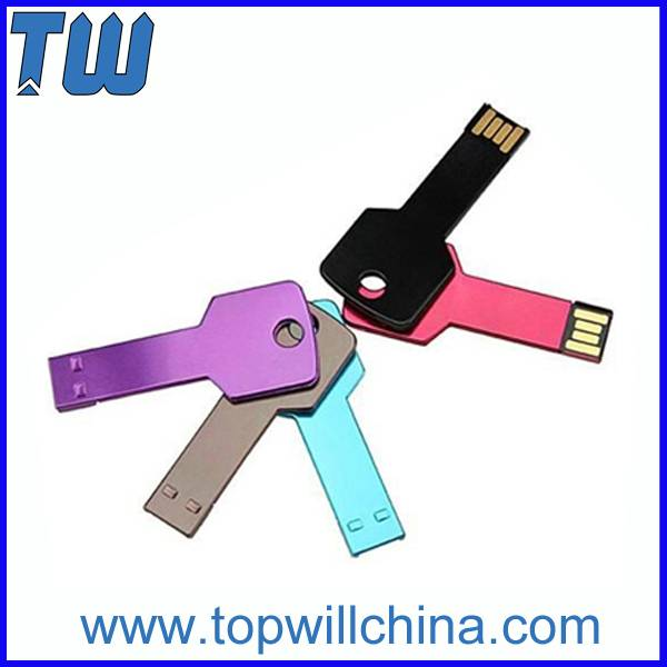 Metal Colorful Key Shape Thumd Drive 8GB 16GB 32GB
