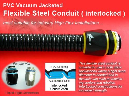 InterLocked PVC Coated Flexible Metal Conduit