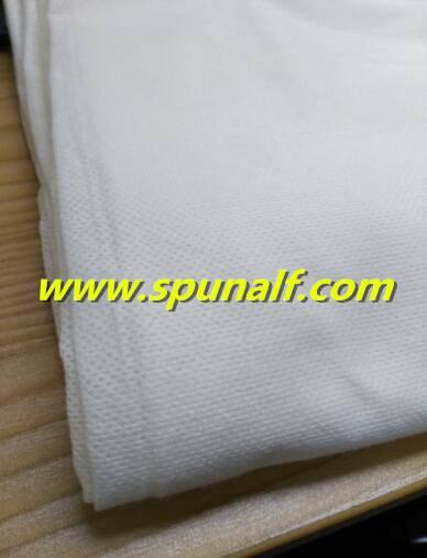 Mesh/plain spunlace nonwoven fabric