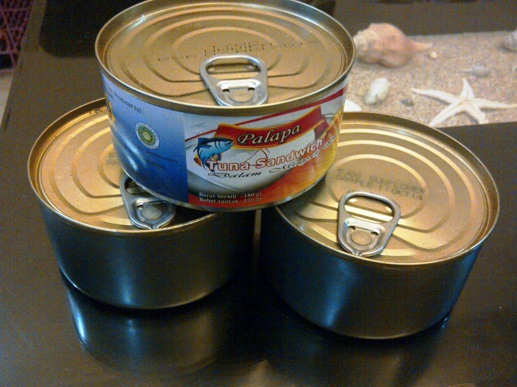 Canned skipjack Tuna Chunk 185 Grams