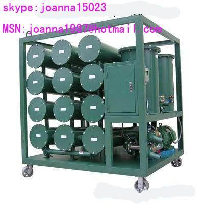 waste transformer oil purifier with a regeneration device