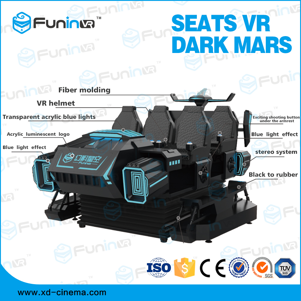 Selling 2018 hot selling 6 Seats Virtual Reality Dark Mars game machine with headset