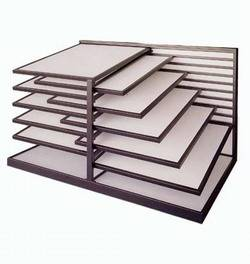 steel display rack for tile