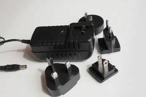 5V 1A interchangeable power adapt with US EU AU UK plugs