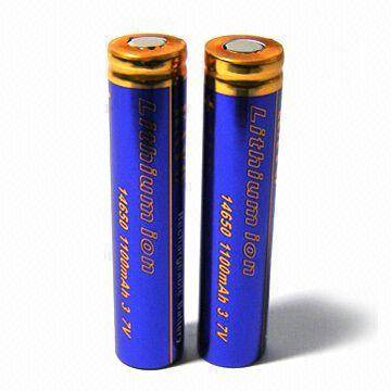 Lithium-ion Battery with 3.7V Nominal Voltage and 1,100mAh Nominal Capacity