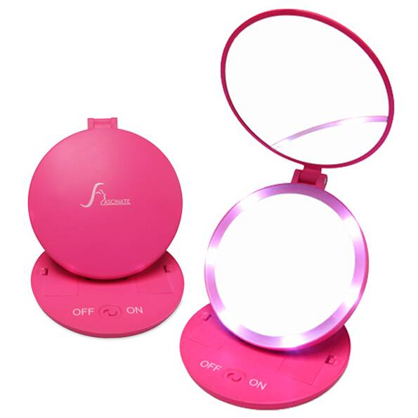 LED Lighted Makeup Mirrors, 5Xmagnifying Mirror, Optional Colors
