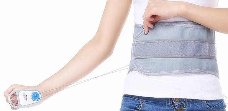 Physiotherapy double nylon string pull waist support brace