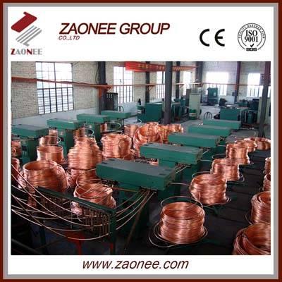 upward continuous casting machine for copper rod