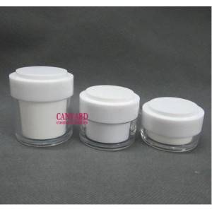 20g-30g-50g-white double wall acrylic cream jars