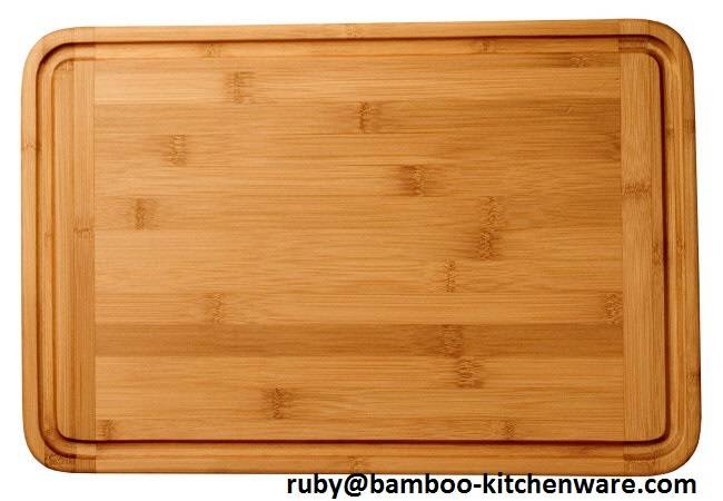 Vegetable and Meat Bamboo Chopping Serving Board with Groove