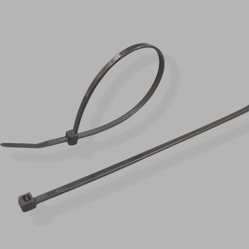 "11.81"" 40lbs Natural Black Cable Tie 100pks"