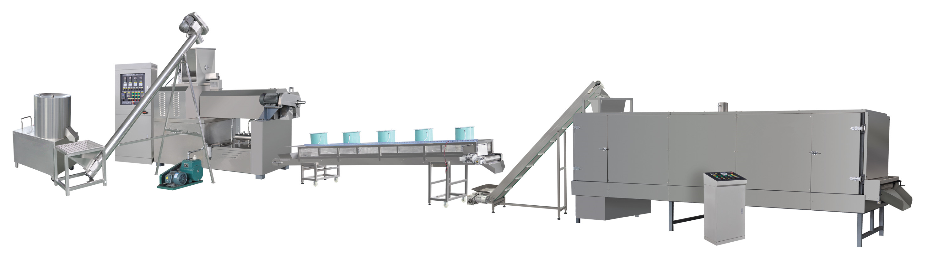 500-600kg per hour textured soya bean protein food machinery