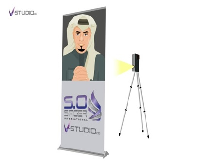 Roll Up Banner with Video Screen by V-Studio