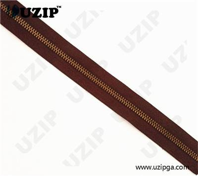 brass zipper by the yeard