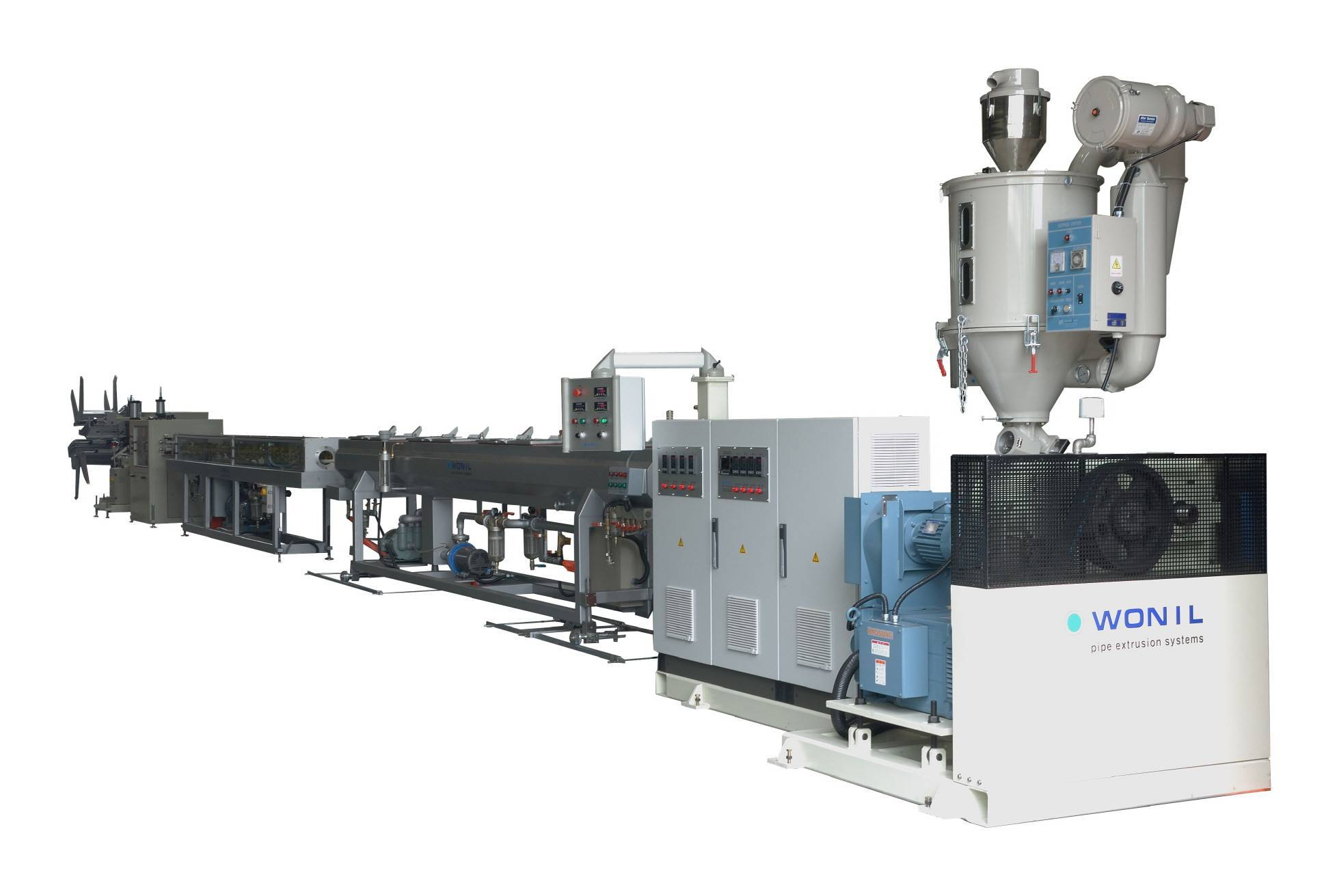 Floor heating pipe extrusion line