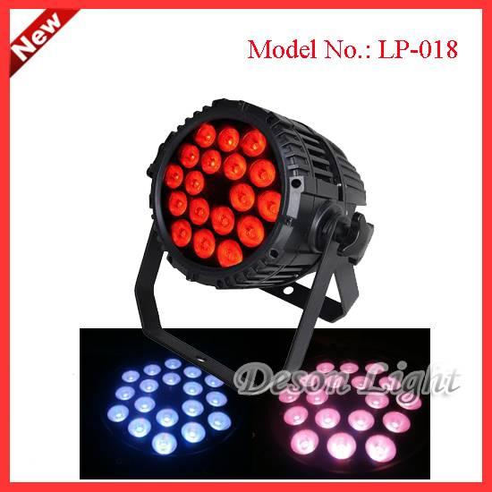 18pcs Led 10Watts RGBW quad color 4in1 LED waterproof par Can LP-018