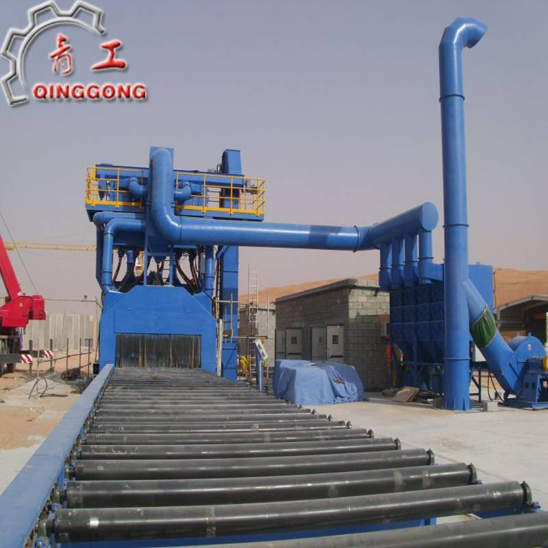 Through type shot blasting machine