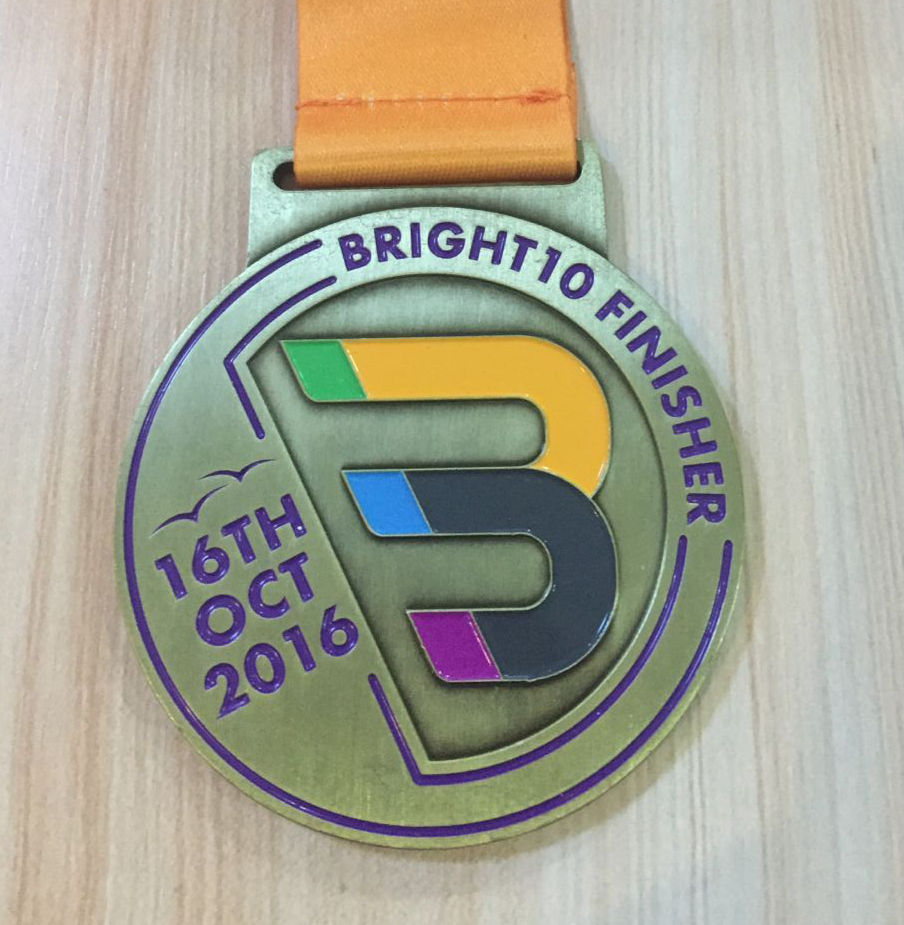 Medal for sports events, made of zinc alloy with sublimated ribbon