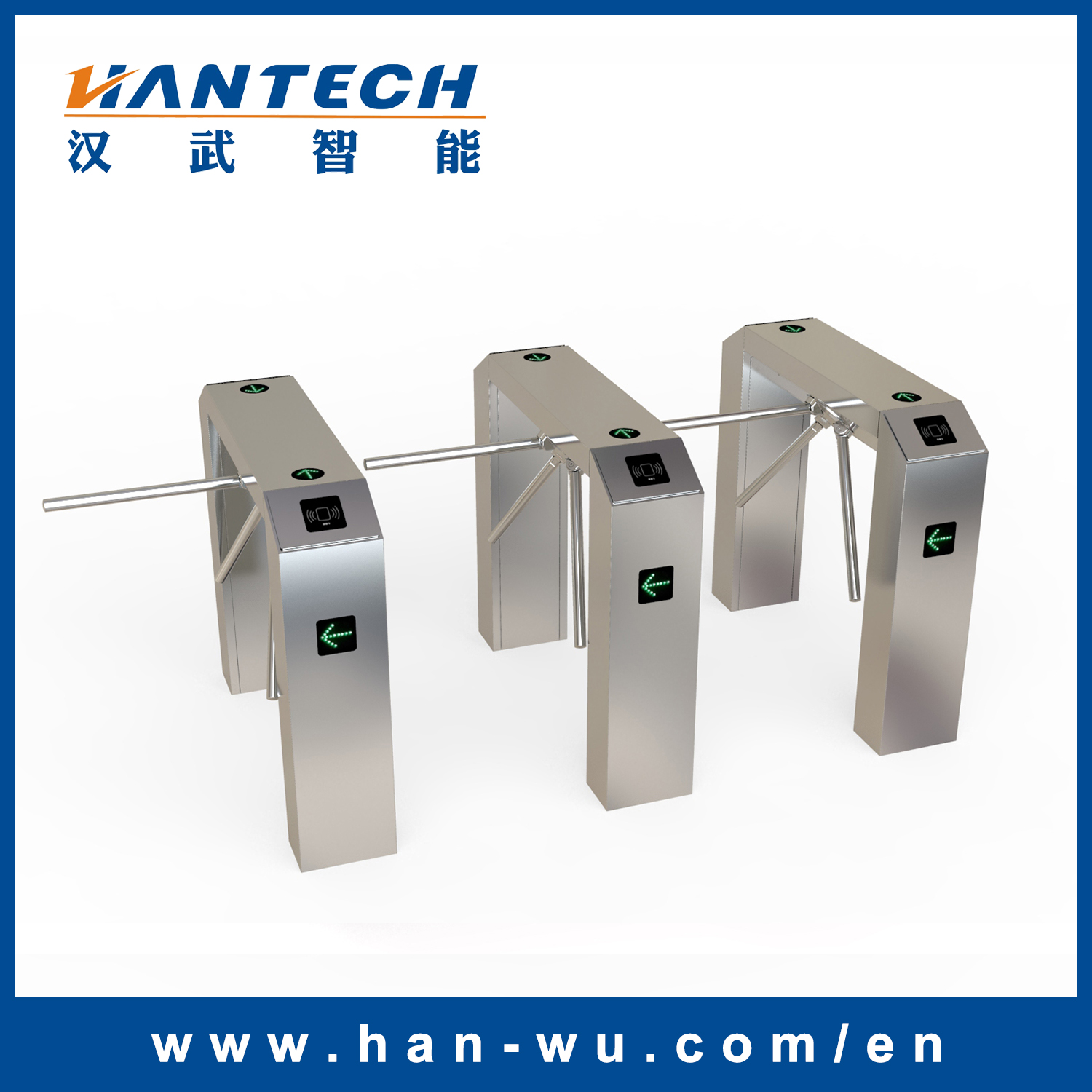 Waist High Turnstile Gate with Card Access Torniquetes Fabricantes